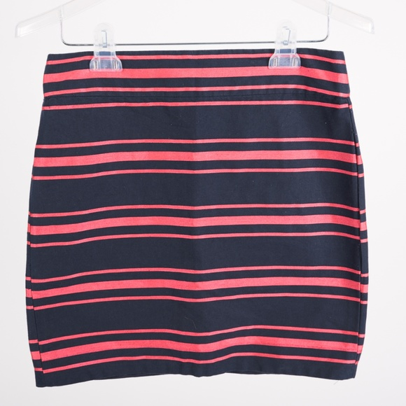 J. Crew Dresses & Skirts - J.Crew Women's Mini Skirt sz 4 Striped Navy Blue